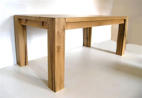Handmade Oak Tables - contemporary bespoke oak dining table oak table