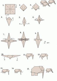 Origami Elephant Diagram - roll tide kid and origami on