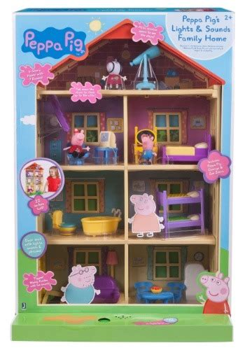 peppa pig family home playset with lights and sounds lights n sounds peppa pig family home playset