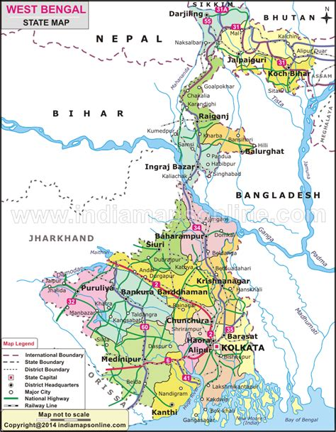 bengal india map the gallery for gt bangal map