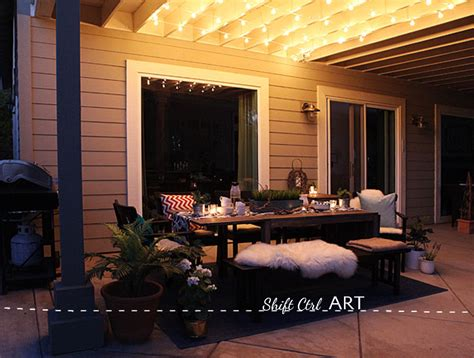 how to hang lights on patio how to hanging globe lights over the patio dining area