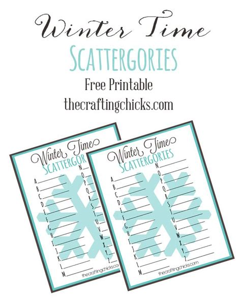 printable scattergories cards winter time scattergories free printable read more we