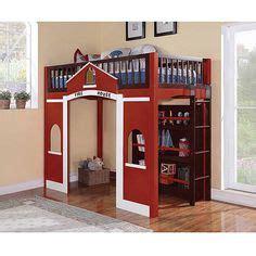 fire truck loft bed fire station loft bed woodworking plans house ideas pinterest