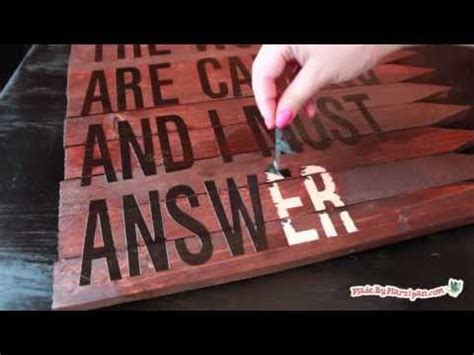 Quote Signs Home Decor make a rustic wood sign youtube