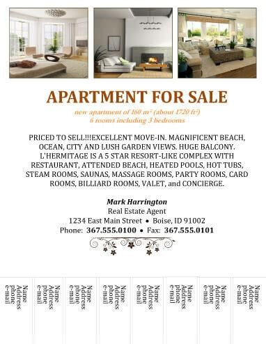 apartment flyers free templates 14 free flyers for real estate sell rent