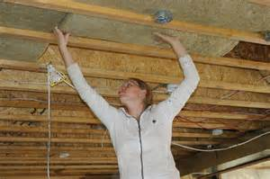 ceiling insulation installers how to install basement ceiling insulation