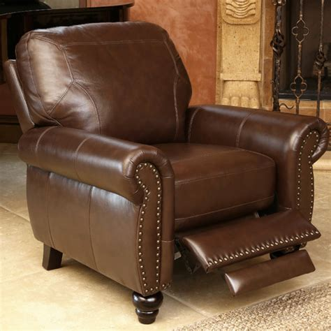 Brown Recliner by Brown Leather Recliner Wayfair