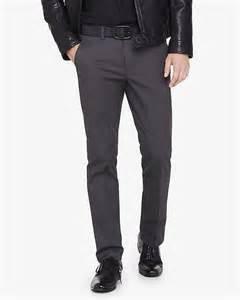 skinny innovator gray cotton dress pant