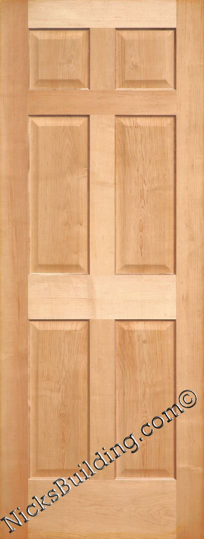 Prehung Maple Interior Doors Maple Doors Maple Interior 6 Panel Doors