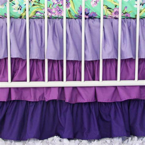 Purple Crib Skirt by Purple Gradient Ruffle Crib Skirt Swatch Kit Caden