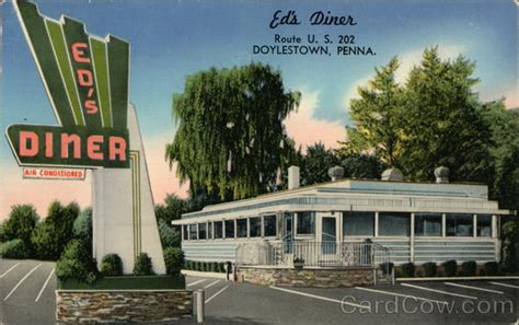 Doylestown Post Office by Ed S Diner Doylestown Pa Postcard