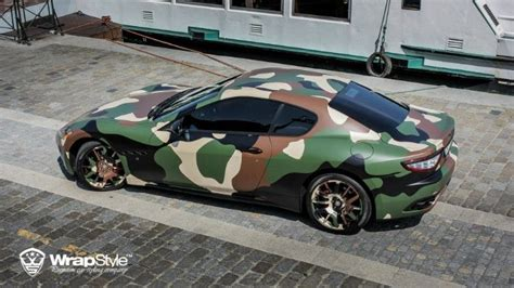 Carbon Folie Jumbo by Maserati Granturismo S Gets Camo Wrap From Wrapstyle