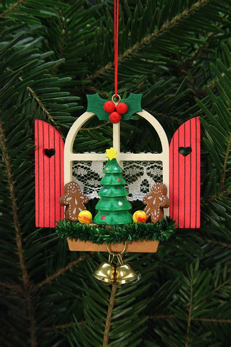 tree ornaments advent window with gingerbread 7 6x7cm