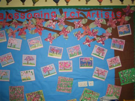 ict painting blossoming ict artists classroom display photo sparklebox