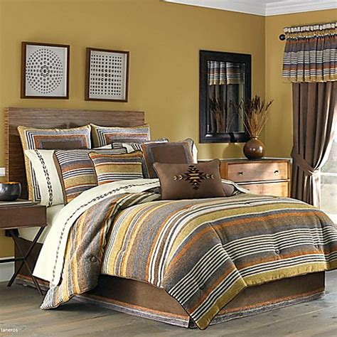 queen comforter sets bed bath beyond j queen new york montaneros comforter set in rust bed