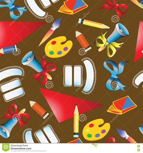 object pattern background school pattern background with objects vector
