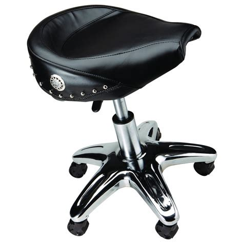 Mechanic Stool by Motorcycle Seat Roller Stool