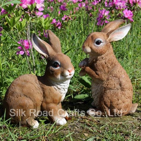 Garden Rabbits Decor Resin Garden Decor House Decor Ideas
