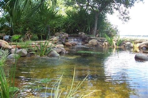 large garden pond island garden features