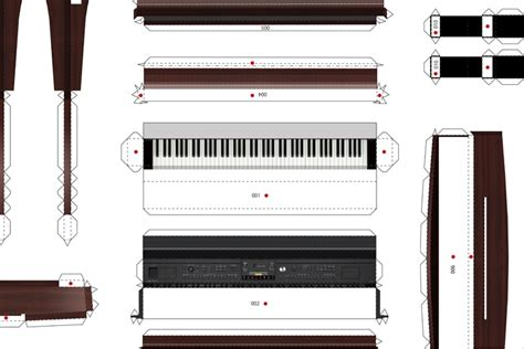 Piano Papercraft - paper craft cvp clavinova 30th anniversary yamaha