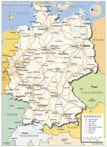 A Map Of Germany by Germany Map Outravelling Maps Guide