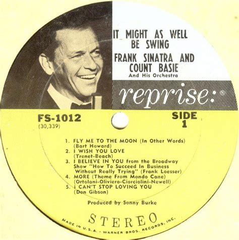 frank sinatra count basie it might as well be swing frank sinatra count basie quot it might as well be swing quot lp