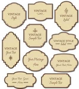 vintage label template tecnologia e imprenta on vintage labels tags