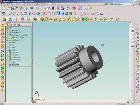 solidworks tutorial on youtube solidworks tutorial flex twisting to draw helical gear