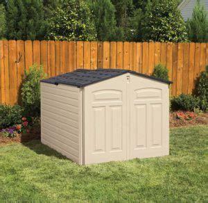 shop rubbermaid slide lid shed quality plastic sheds