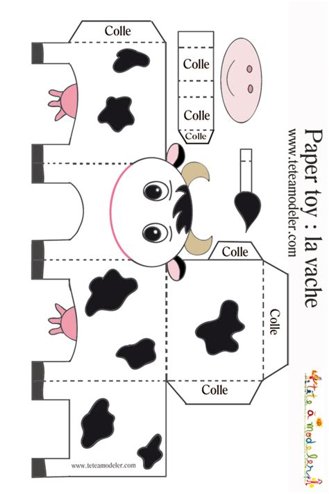 dot pattern note la noire vache noire et blanche 224 imprimer sur t 234 te 224 modeler