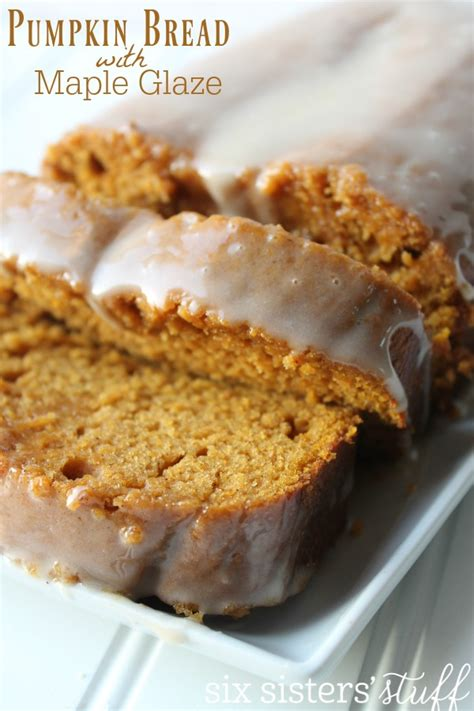 maple frosting pumpkin bread with maple frosting six stuff