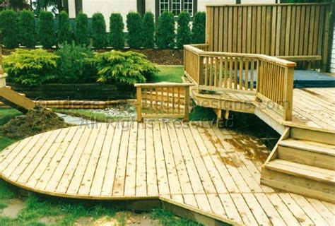 Backyard Decking Ideas Building Above Ground Pool Decks Design And Layout Tips
