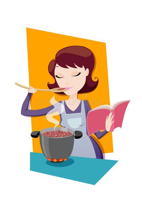 clipart cucina mamma cucina ricetta dal libro di cucina illustrazione