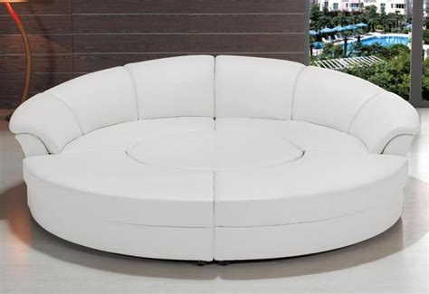 circular sectional couch divani casa circle modern bonded leather circular