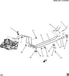 Brake Line Diagram For 2000 Pontiac Grand Prix Chevrolet Impala Fuel Supply System Fuel Lines