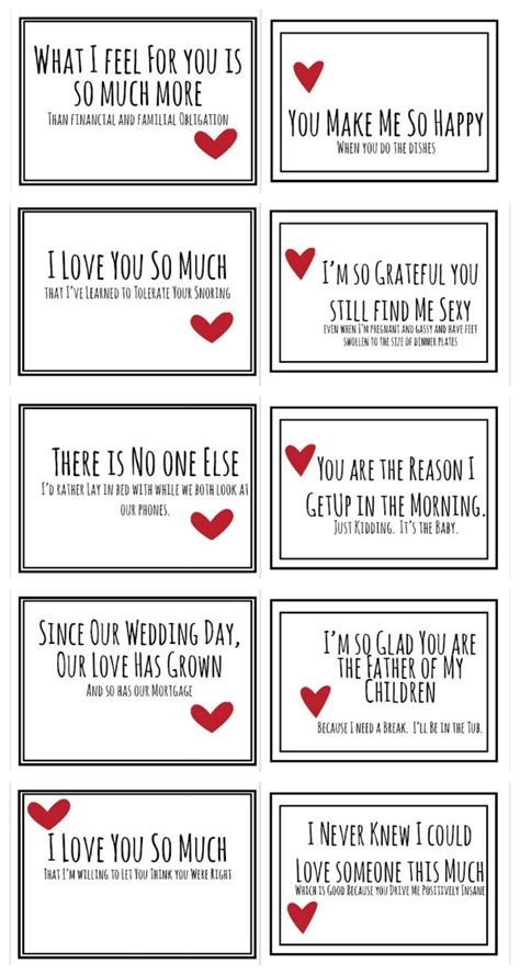 valentines day notes for him realist valentines for your husband free pdf free