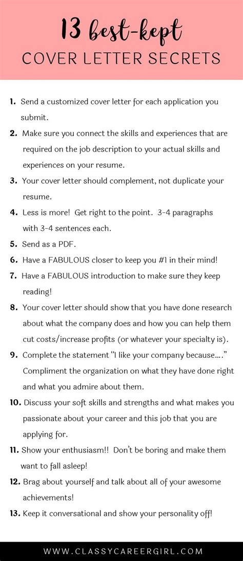 what should be said in a cover letter 25 best ideas about cover letter on