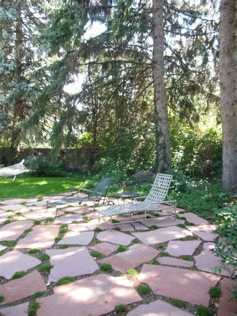 How To Clean Moss Patio by Flagstone Patio With Moss Traditional Patio Denver