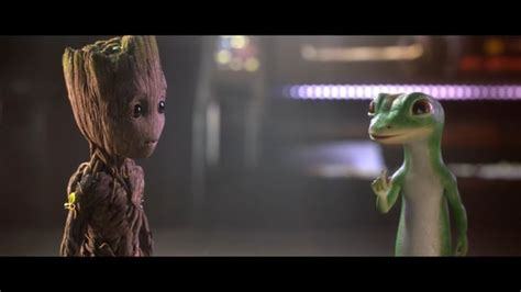 geico gecko commercials geico groot and gecko team up daily commercials