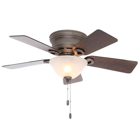 hunter ceiling fans home depot hunter conroy 42 in indoor antique pewter low profile