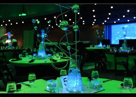 glow in the dark centerpieces real mitzvah glowing mad
