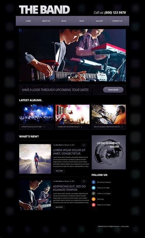bootstrap themes free band music band responsive joomla template 50586