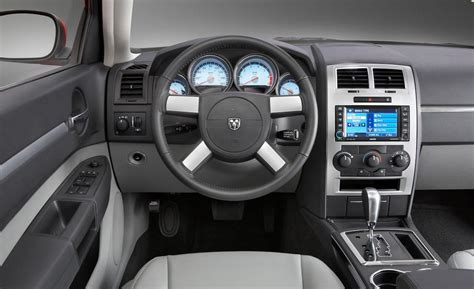 Interior Of A Dodge Charger car and driver
