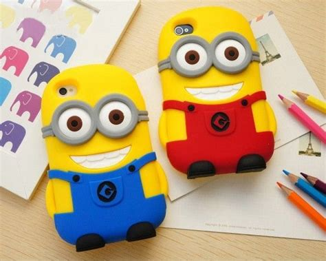 Minion Despicable Me For Iphone 5 5s Tipe B Limited 2pcs 3d character despicable me 2 minions soft cover for iphone 5 5s iphone 4 4s