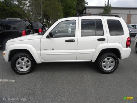 jeep white liberty white 2002 jeep liberty limited exterior photo