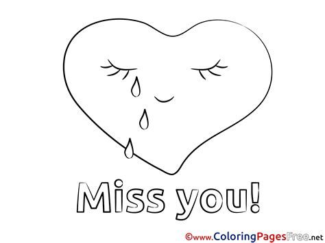 Miss U Coloring Pages by Miss You Coloring Pages Free