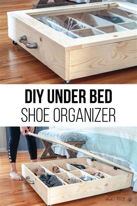 diy shoe storage ideas  weekend craft projects