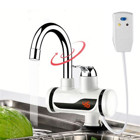 Electric Water Heater Tap Instant Hot Water Faucet Heater Cold Heating Faucet Tankless
