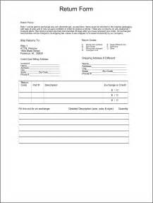 merchandise return form template best photos of return form template return material