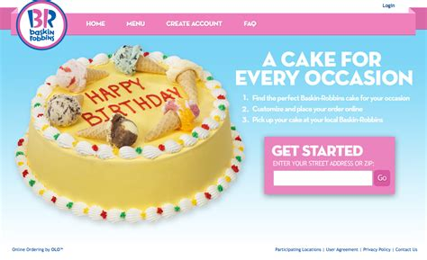 Cake Order by Baskin Robbins Launches Cake Ordering Through Olo S